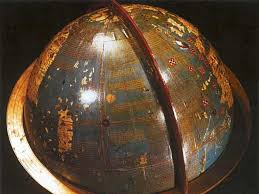 Martin Behaim's 1492 Globe - That's Japan on the left and Europe on the right with no intervening Americas.